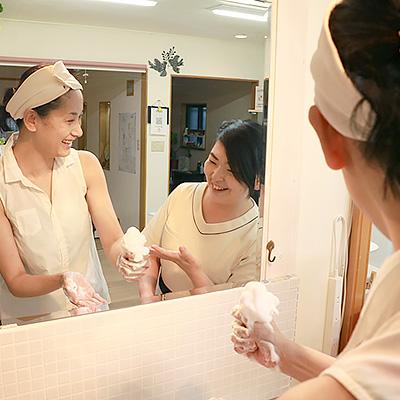 二コナチュール - 初めての方へ:正しい洗顔を体験していただきます